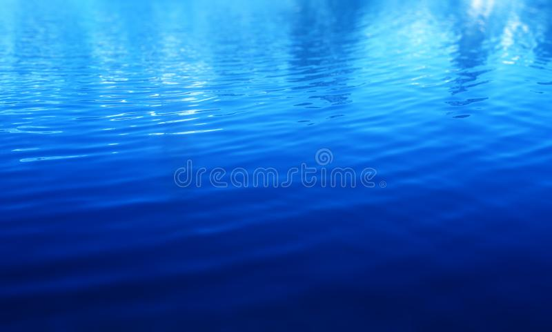 Blauwe waterspiegelachtergrond stock foto's