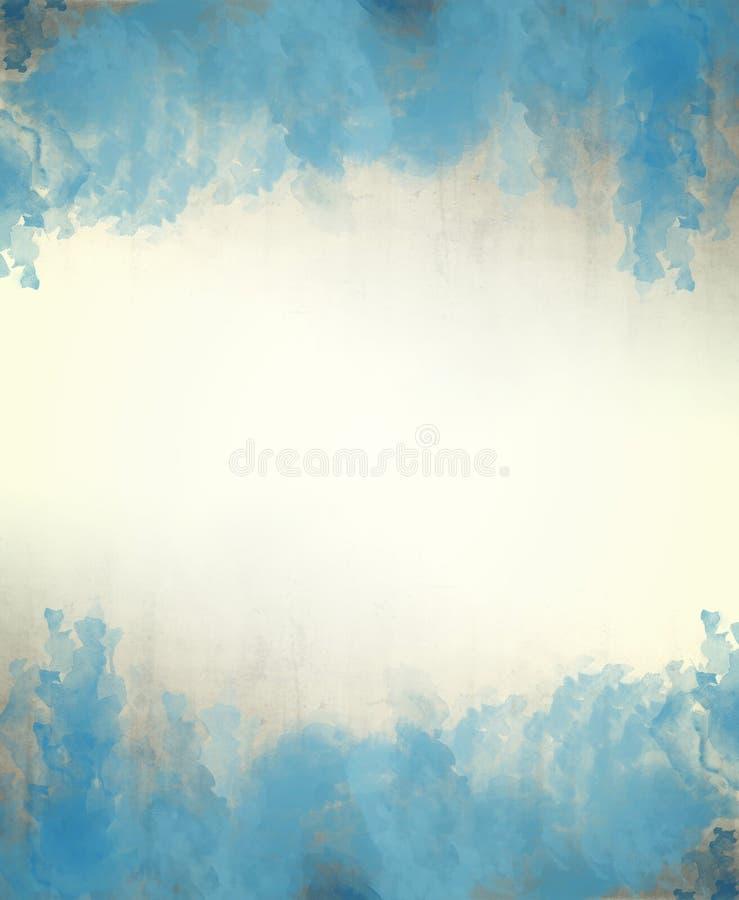 Blauwe waterverf abstracte textuur als achtergrond stock foto