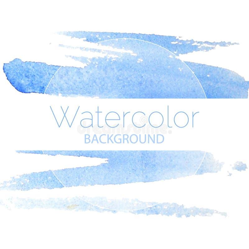 Blauwe waterverf blauwe tekst als achtergrond royalty-vrije illustratie