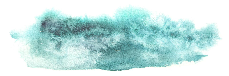 Blauwe waterverfachtergrond voor uw ontwerp Hand getrokken textuur stock foto