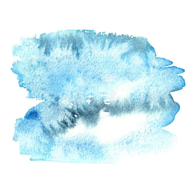 Blauwe waterverfachtergrond voor uw ontwerp Hand getrokken textuur royalty-vrije stock foto