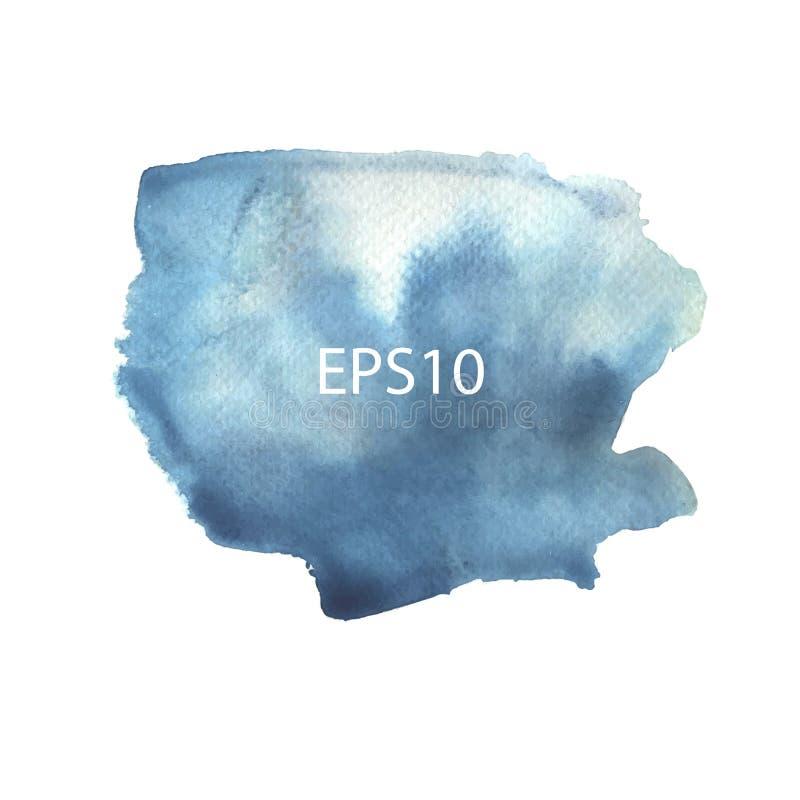 Blauwe waterverfvlekken vector illustratie