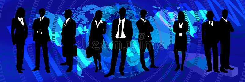 Blauwe wereldbanner 3 royalty-vrije illustratie