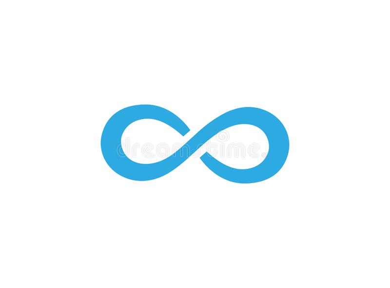 Blauwe windende weg voor de illustratie van het embleemontwerp vector illustratie
