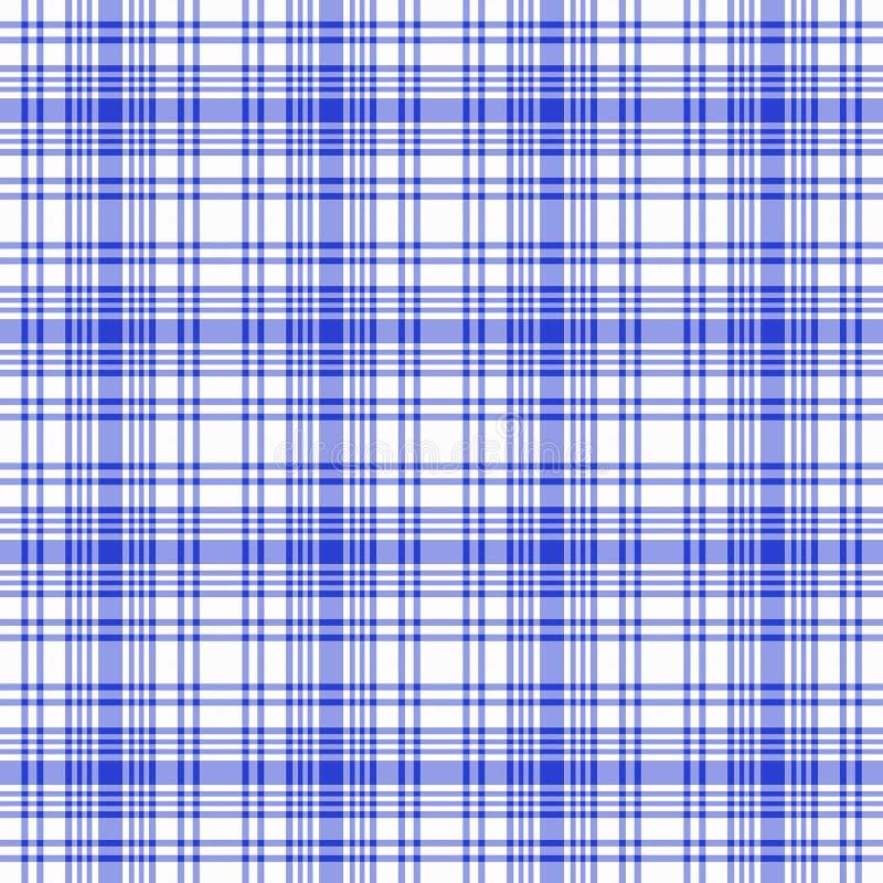 Blauwe Witte Naadloze Plaid stock illustratie