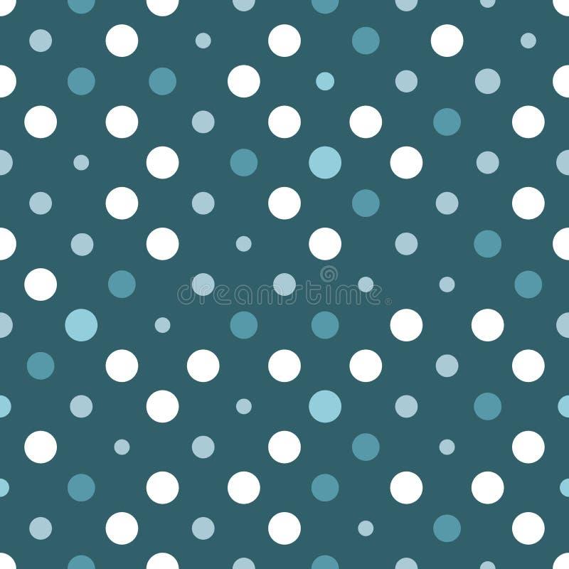 Blauwe witte stippen vector illustratie