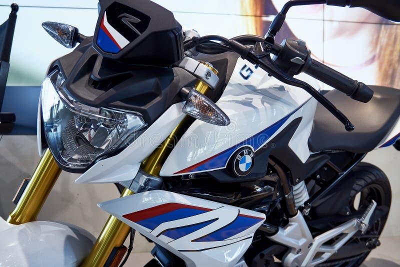 Blauwe Witte Super Motor BMW royalty-vrije stock foto