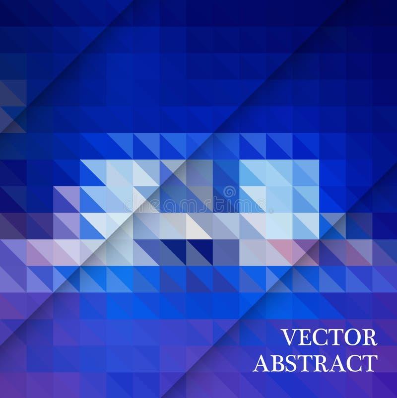 Blauwe Witte Veelhoekige Mozaïekachtergrond, Vectorillustratie, Creatieve Zaken royalty-vrije illustratie