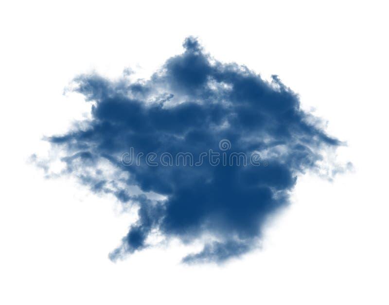 Blauwe wolken op wit stock afbeelding