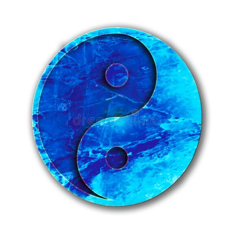 Blauwe Yin yang royalty-vrije illustratie