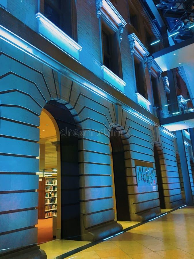 Blauwe zaal royalty-vrije stock afbeeldingen