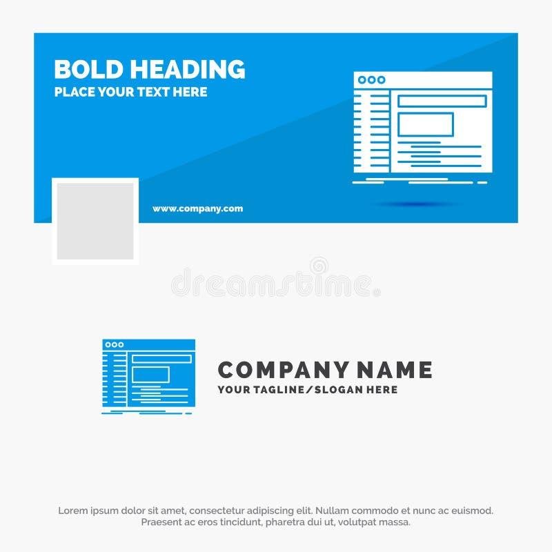 Blauwe Zaken Logo Template voor Admin, console, paneel, wortel, software Facebook-het Ontwerp van de Chronologiebanner De vector  vector illustratie