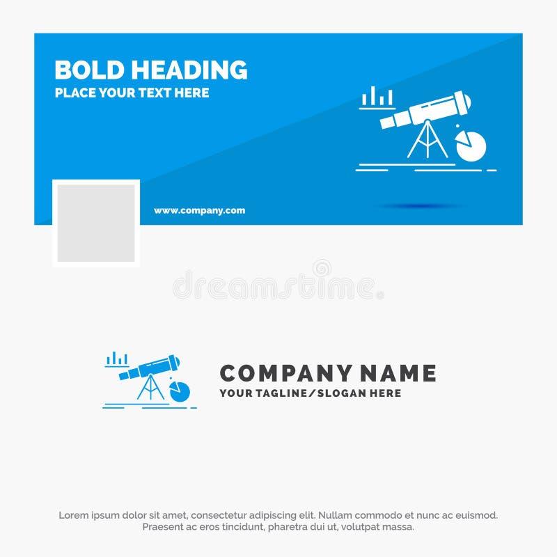 Blauwe Zaken Logo Template voor Analytics, financi?n, voorspelling, markt, voorspelling Facebook-het Ontwerp van de Chronologieba stock illustratie