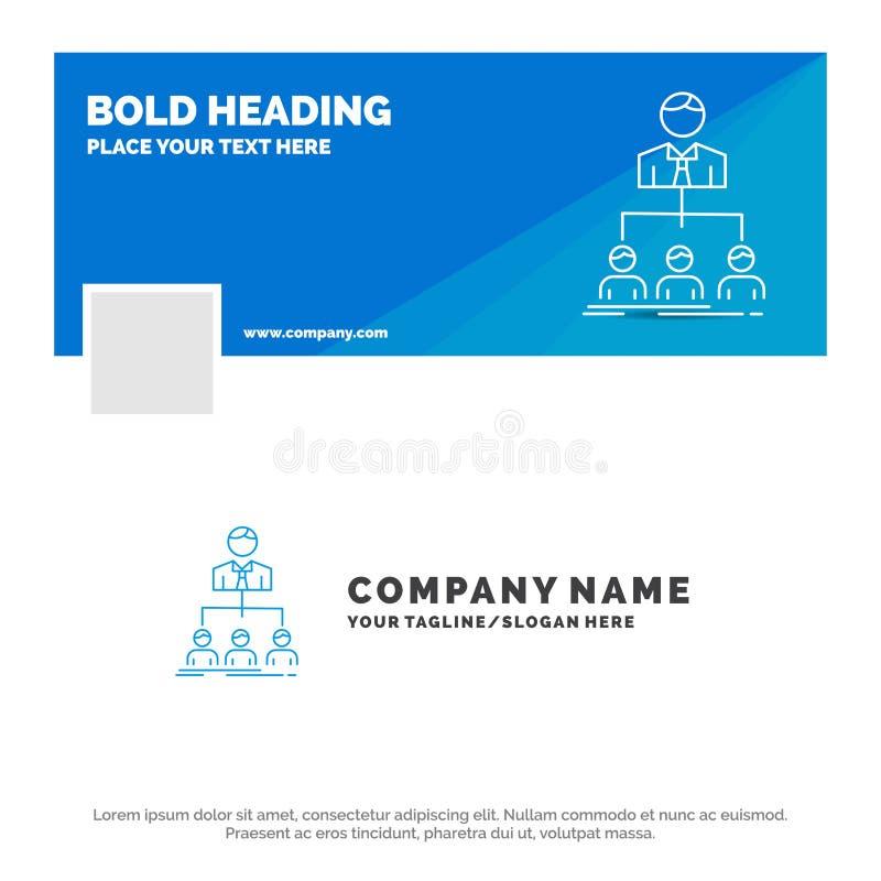 Blauwe Zaken Logo Template voor team, groepswerk, organisatie, groep, bedrijf Facebook-het Ontwerp van de Chronologiebanner De ve stock illustratie