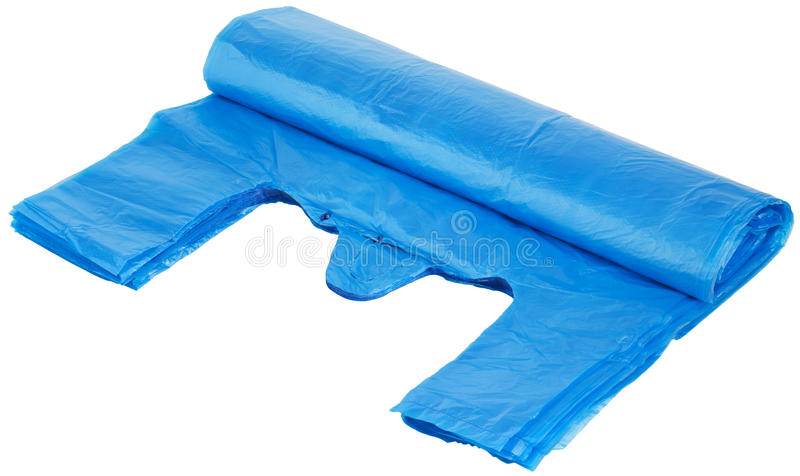 Blauwe zakken stock fotografie