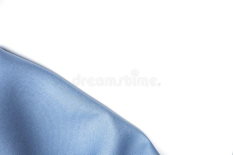 Blauwe zijdestof met exemplaar royalty-vrije stock afbeeldingen