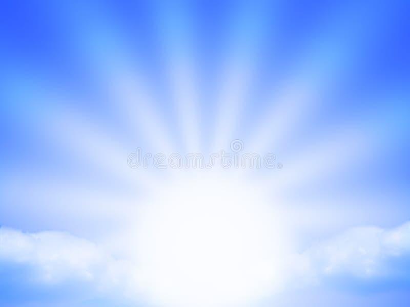 Blauwe zonnestraal vector illustratie