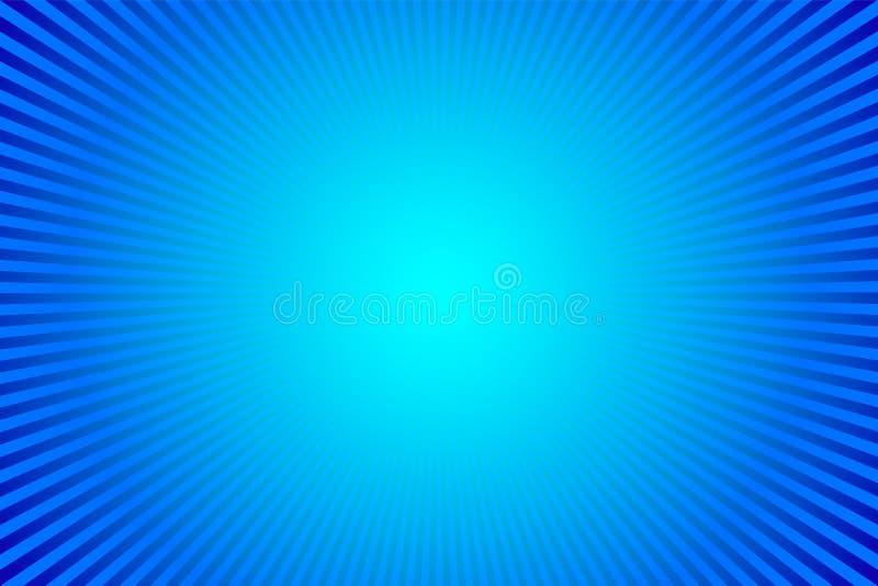 Blauwe zonnestraalachtergrond De vectorillustratie van Ray EPS10 vector illustratie