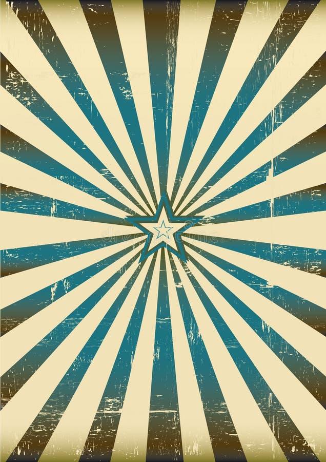 Blauwe zonnestralen vector illustratie