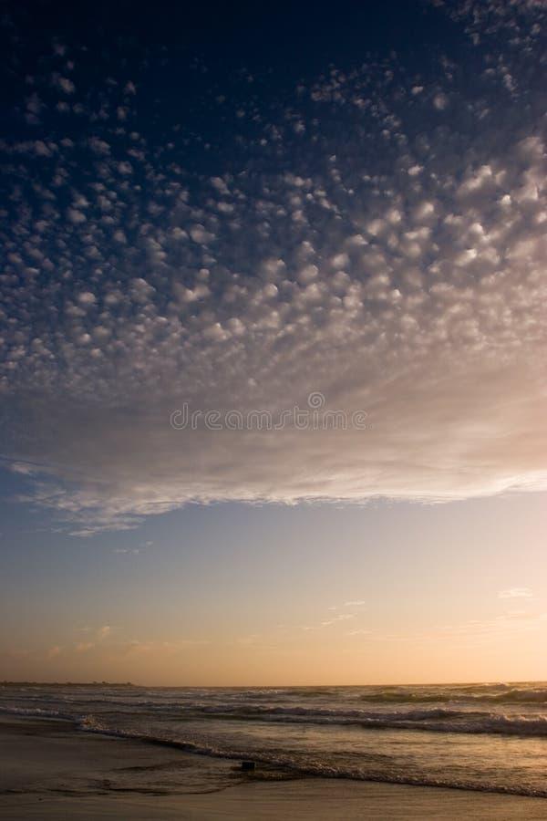 Blauwe Zonsondergang stock afbeeldingen