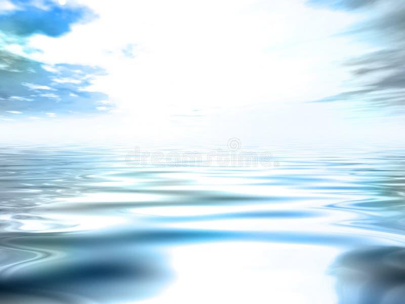 Blauwe zonsopgang royalty-vrije illustratie
