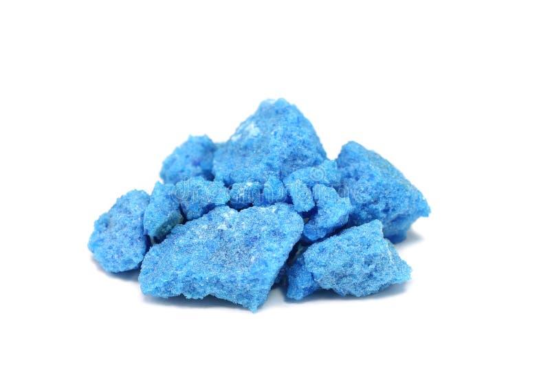 Blauwe zoute kristallen royalty-vrije stock foto