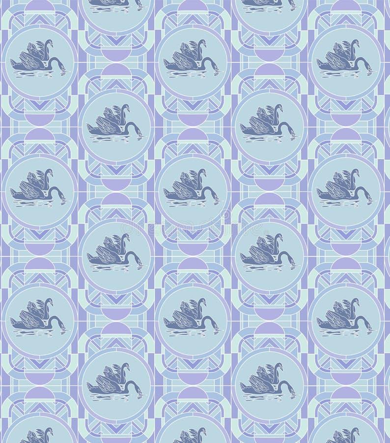 Blauwe zwanen royalty-vrije illustratie