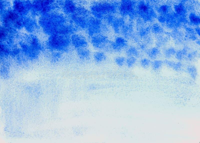 Blauwe zwart-wit van de gradiëntwaterverf textuur als achtergrond stock illustratie