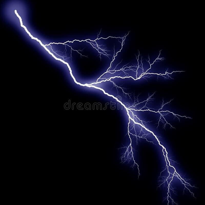 Blauwere bliksem vector illustratie