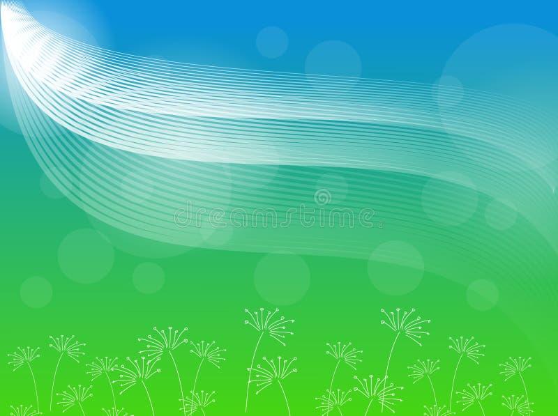 Blauwgroene Abstracte Achtergrond stock illustratie