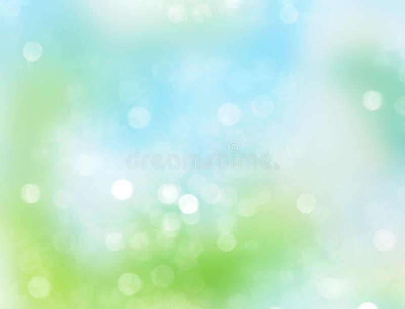 Blauwgroene abstracte de lente vage achtergrond vector illustratie