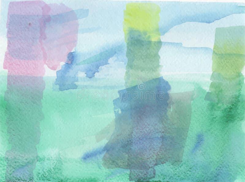 Blauwgroene bevlekte vectorachtergrond stock illustratie