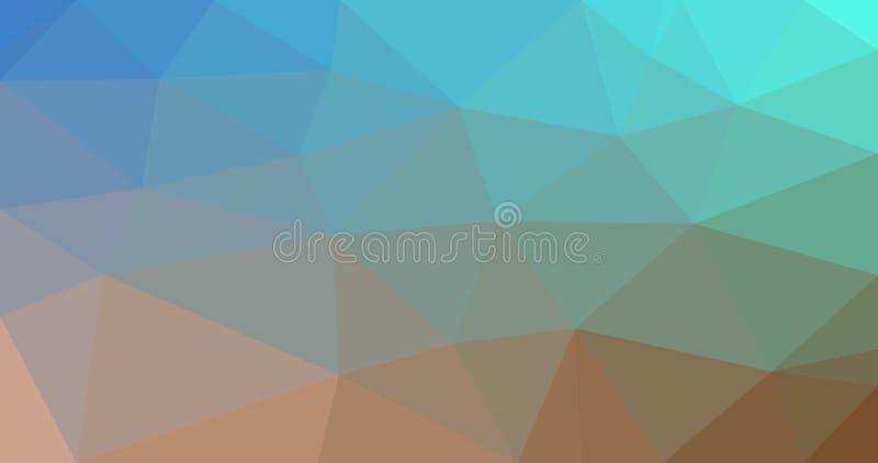 Blauwgroene Bruine Abstracte Achtergrond stock foto's