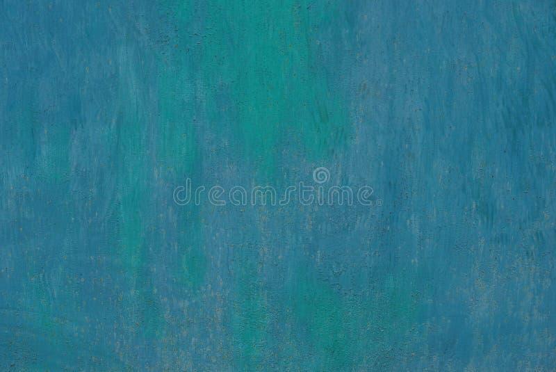 Blauwgroene donkere metaaltextuur van ijzermuur royalty-vrije stock afbeelding