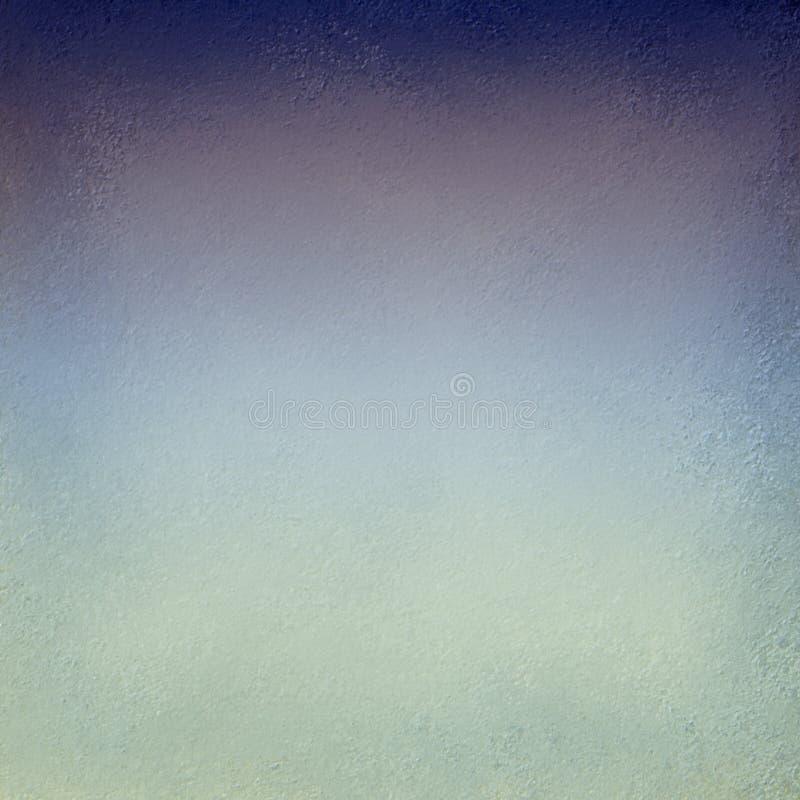 Blauwgroene en purpere zwarte achtergrond met het donkere ontwerp van de schaduwgrens en zachte vage textuur in elegante elegante stock illustratie
