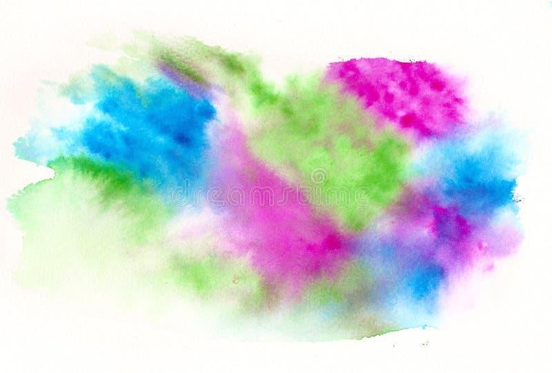Blauwgroene roze waterverfachtergrond vector illustratie
