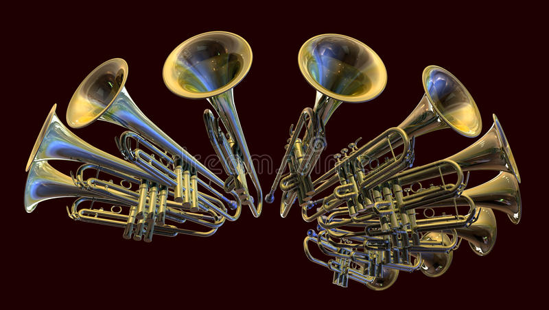 Download A Blaze of Brass stock illustration. Image of musical - 14758127