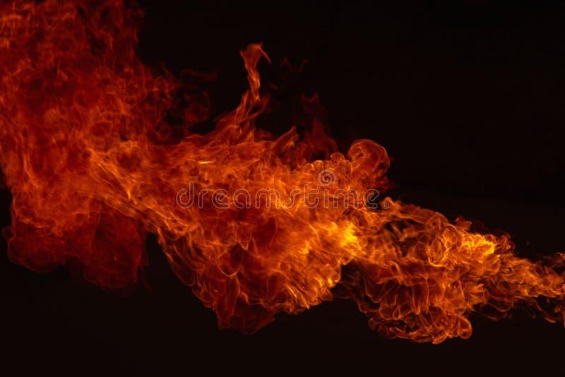 Blaze Fire flamea el fondo foto de archivo libre de regalías