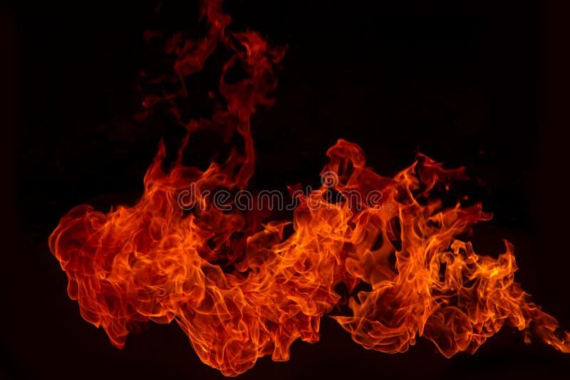 Blaze Fire flammar bakgrund arkivfoto