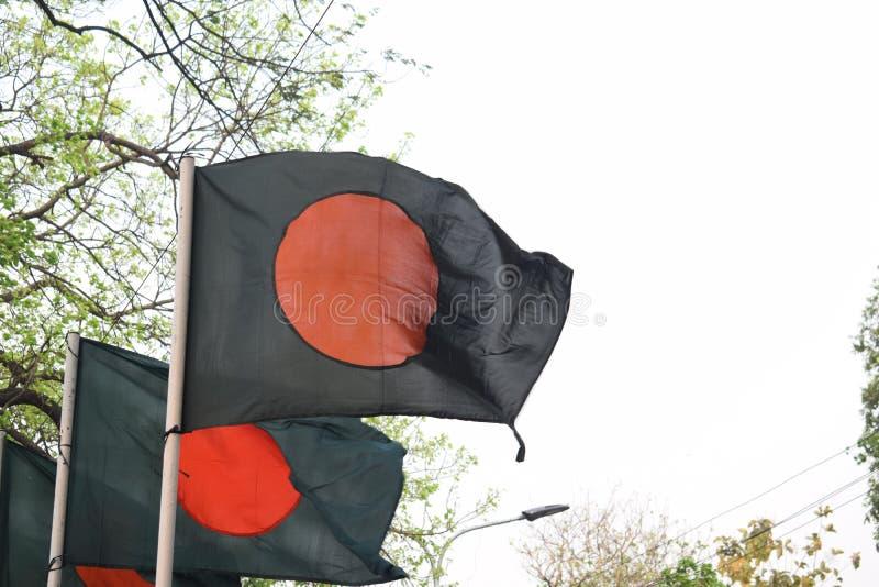 Blazende banladeshivlag stock foto's