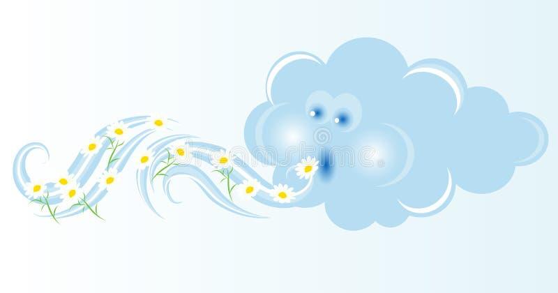 Blazende wolk stock illustratie