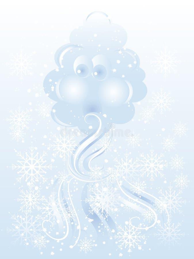 Blazende wolk royalty-vrije illustratie