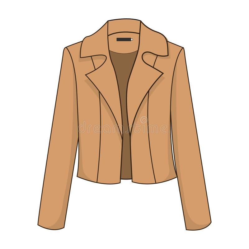Blazer/revestimento marrons clássicos elegantes e à moda ilustração do vetor