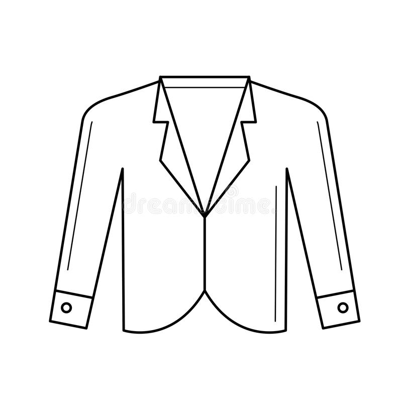 Blazervektorlinje symbol royaltyfri illustrationer