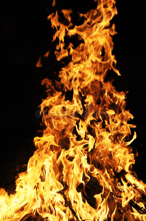Download Blazing fire stock photo. Image of barbeque, flammable - 12770880