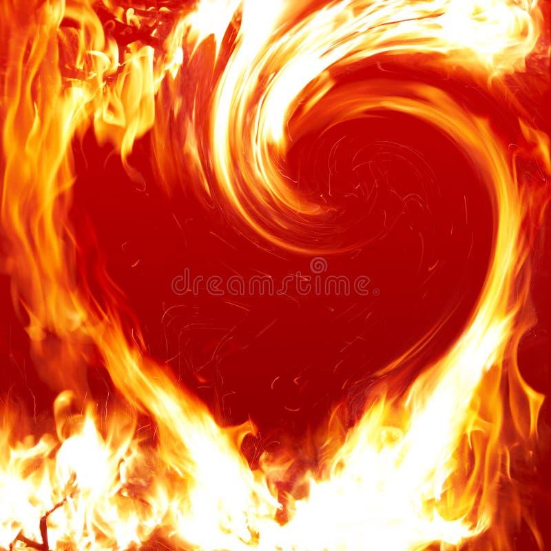 Blazing heart royalty free illustration