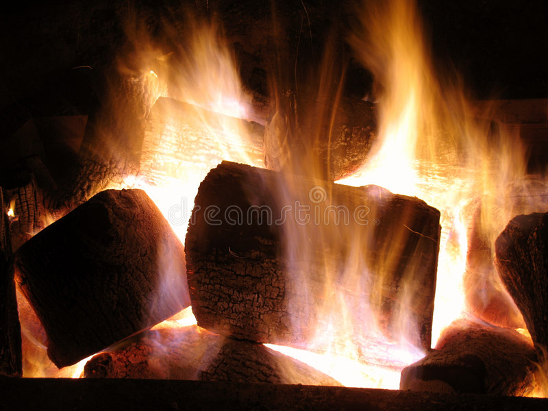 Blazing Holiday Fire royalty free stock images