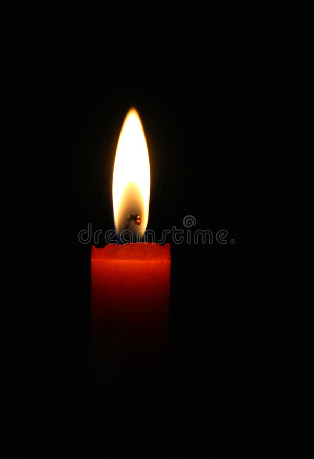 Blazing red candle