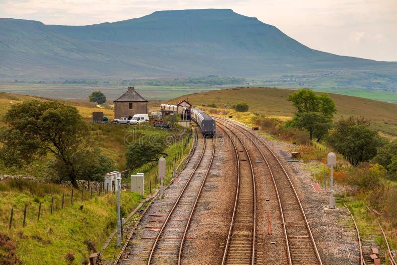Blea amarra el ferrocarril, Reino Unido imagenes de archivo