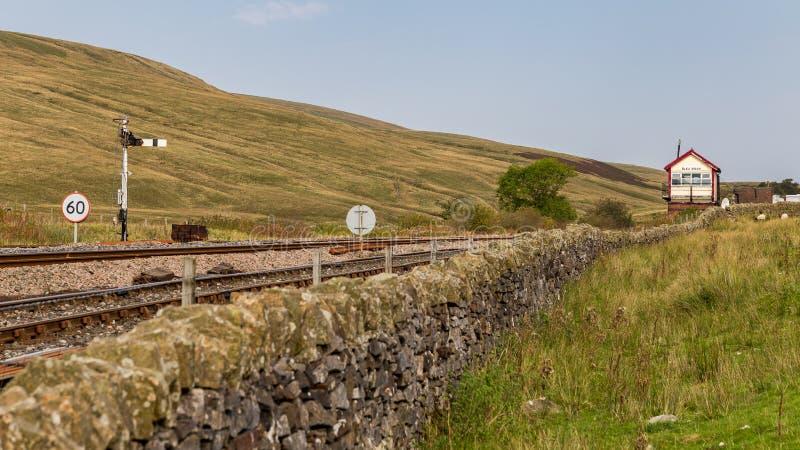 Blea attracca la stazione ferroviaria, Regno Unito immagine stock libera da diritti